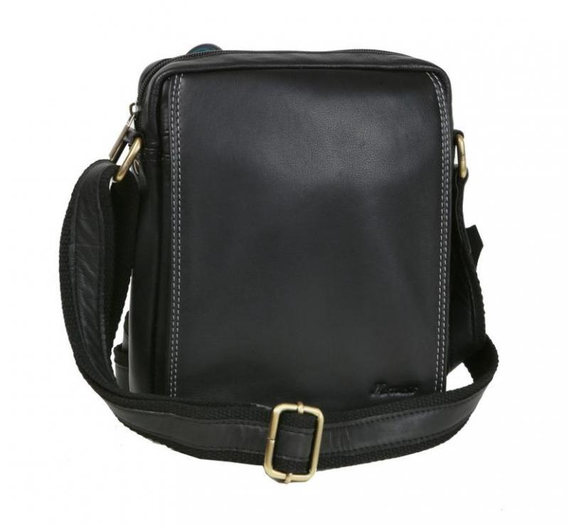 0e08cc5ea6 Príručná kožená taška - čierna väčšia
