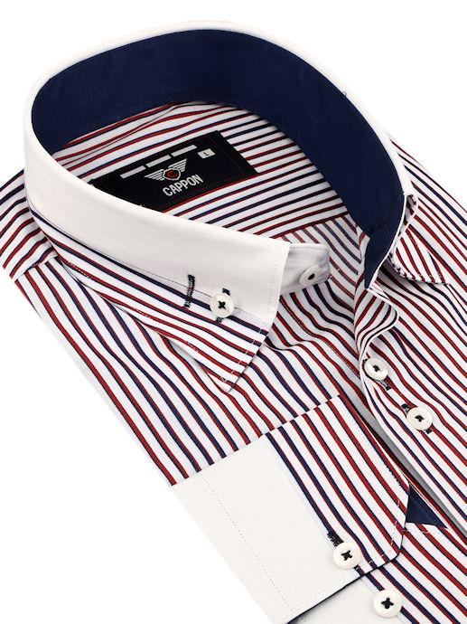 276811b96921 CAPPON Prúžkovaná košeľa (klasický strih) - All4Men.sk