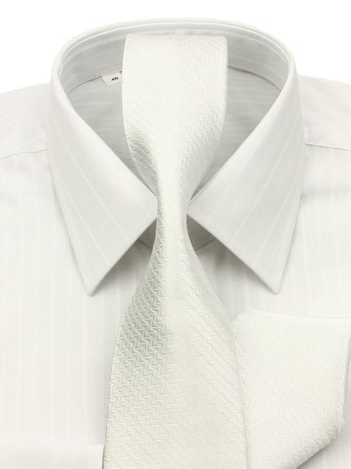 f48113906c1d Biela košeľa (klasický strih) KLEMON 20-032B - All4Men.sk
