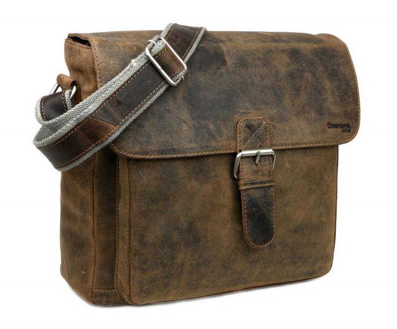 Kožená taška na rameno GreenLand STONE 2112-28 - All4Men.sk 2d14c54bf4b