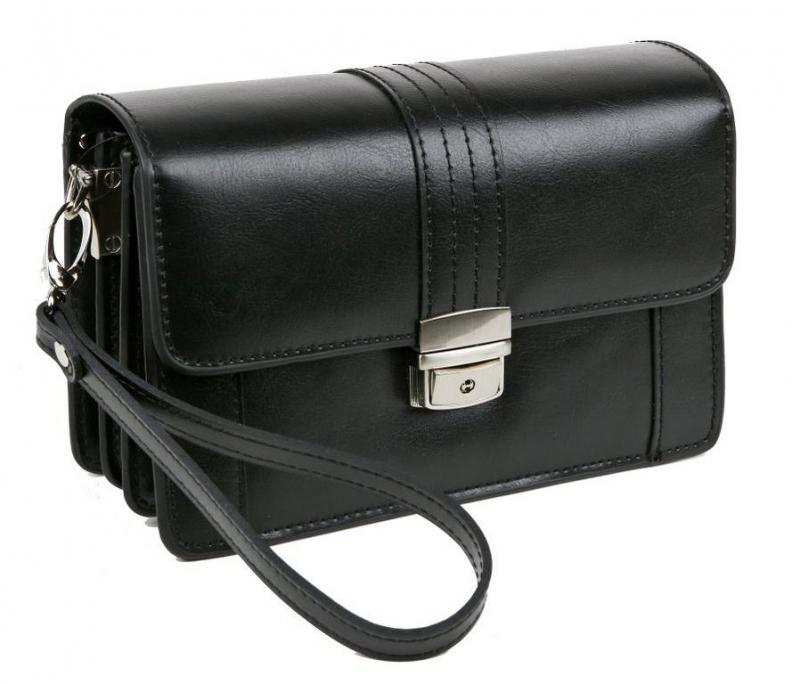 Pánska príručná taška čierna 23102-BL - All4Men.sk cee8a4151f9