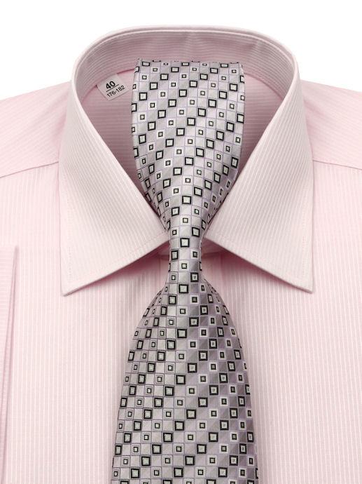 e66b65ee087f Ružová košeľa BEVA s kravatou (kolekcia) - All4Men.sk