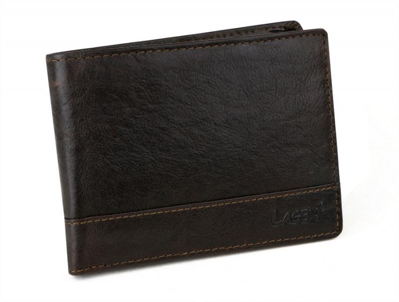 0e360b267c Pánska kožená peňaženka LAGEN 64665 hnedá - All4Men.sk