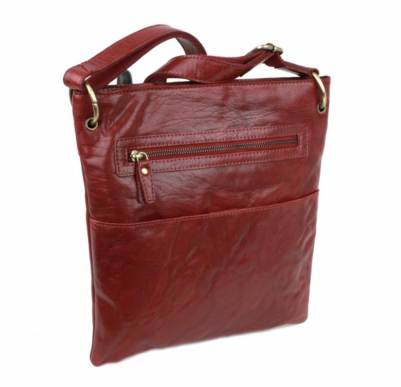 Dámska kožená taška wine LAGEN 3289 - All4Men.sk 0e02df936fc