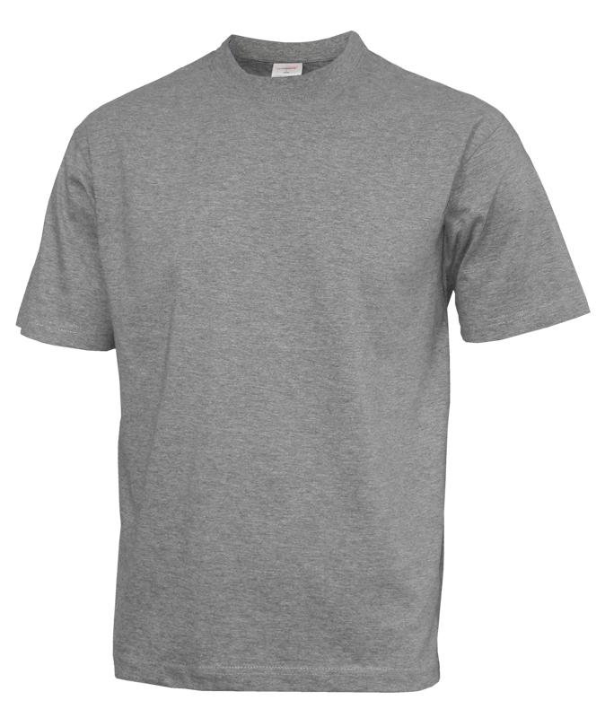 Bavlnené melírované šedé pánske tričko - All4Men.sk e77e2adc8a4