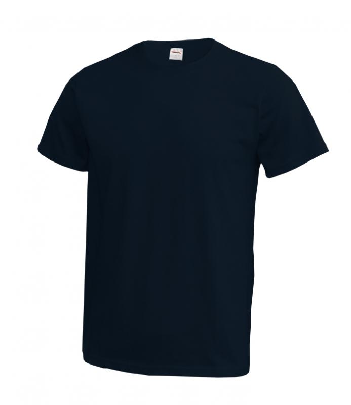 Bavlnené modré pánske tričko LAMBESTE - All4Men.sk 7c638635d8c