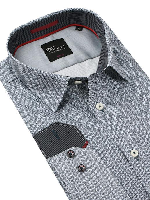 017ab92bb218 Luxusná biznis košeľa šedá-vzorovaná VENTI (body fit) - All4Men.sk