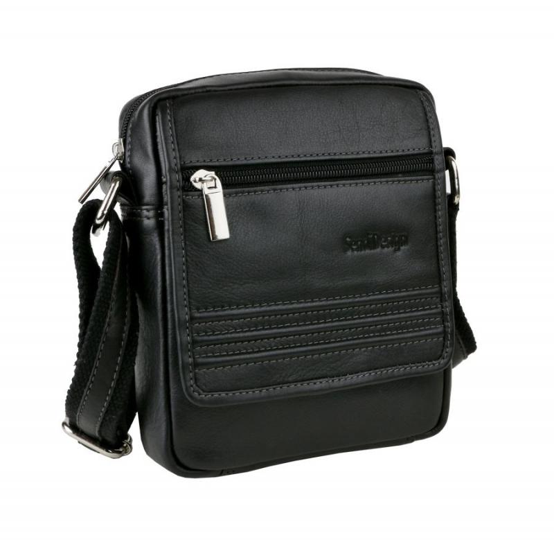 40c4877d3 Kožená čierna taška na rameno SENDI 794-BL - All4Men.sk