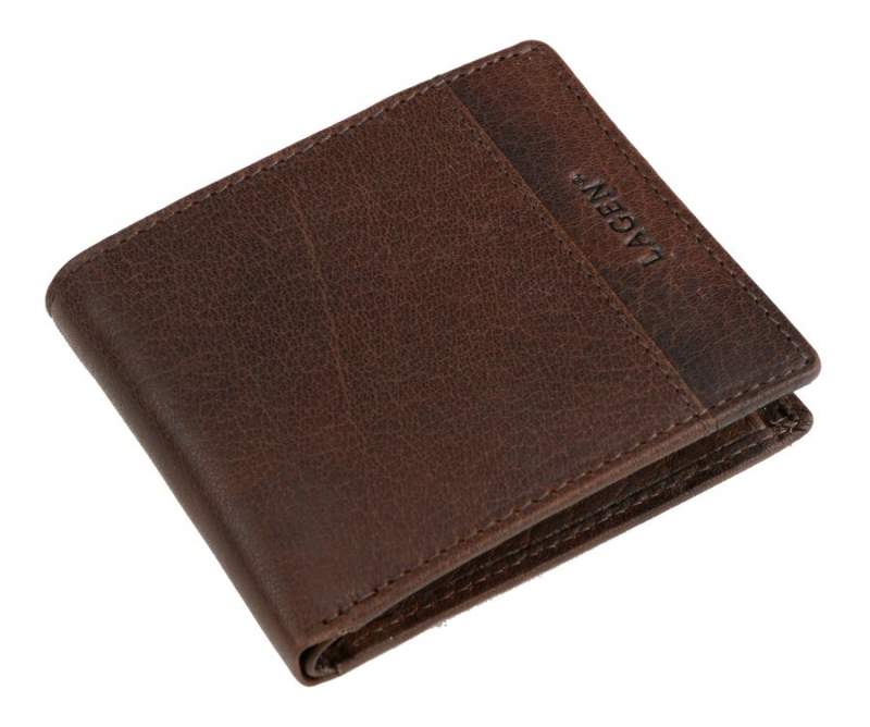 601439c931 Kožená peňaženka LAGEN hnedá tmavá 8697 - All4Men.sk