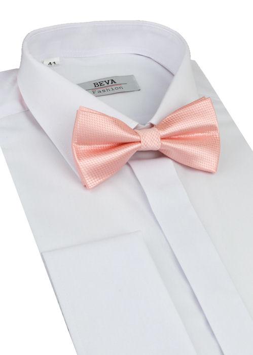 fac3c83f66 Biela slim košeľa na manžetové gombíky BEVA - All4Men.sk