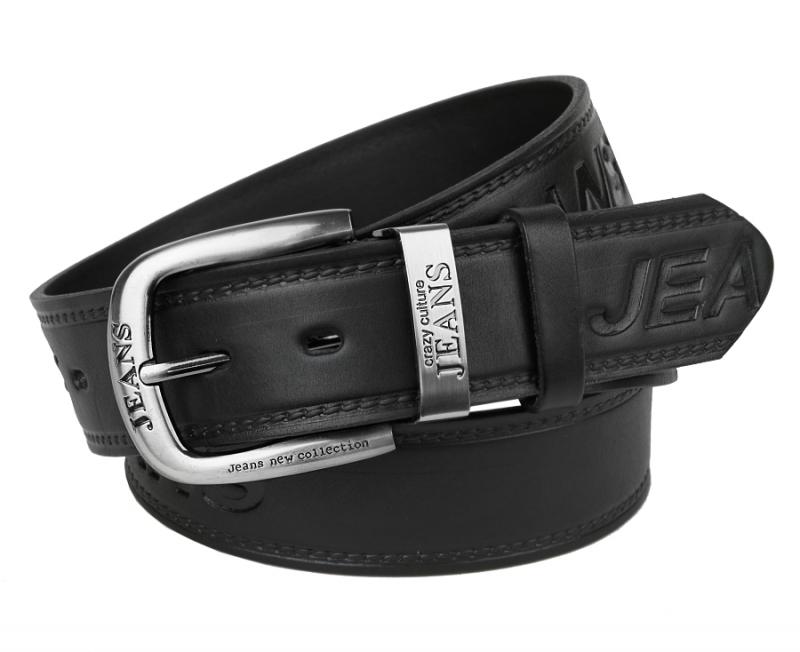 18e0a7b1a87d Pánsky čierny kožený opasok MERCUCIO JEANS 735-E - All4Men.sk