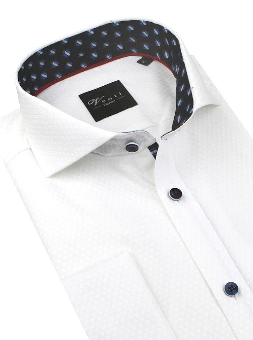 6657905764b1 Biela košeľa na manžetové gombíky VENTI SLIM Easy Care - All4Men.sk