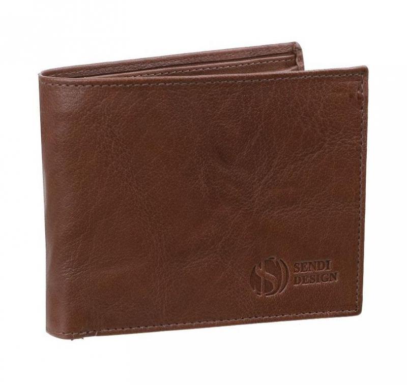 16e64daa0b4f Pánska kožená peňaženka SENDI hnedá SNW6856 - All4Men.sk