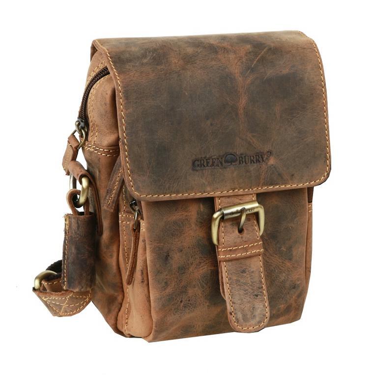 e47252eb49 Malá príručná taška z brúsenej kože GREENBURRY 1651 - All4Men.sk