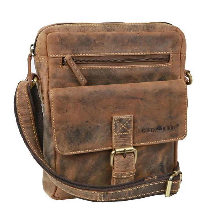 defac5e416 Vintage príručná taška z brúsenej kože GREENBURRY 1663 - All4Men.sk