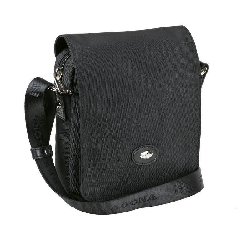 Textilná taška s chlopňou HEXAGONA čierna H-323911 - All4Men.sk 75755336821