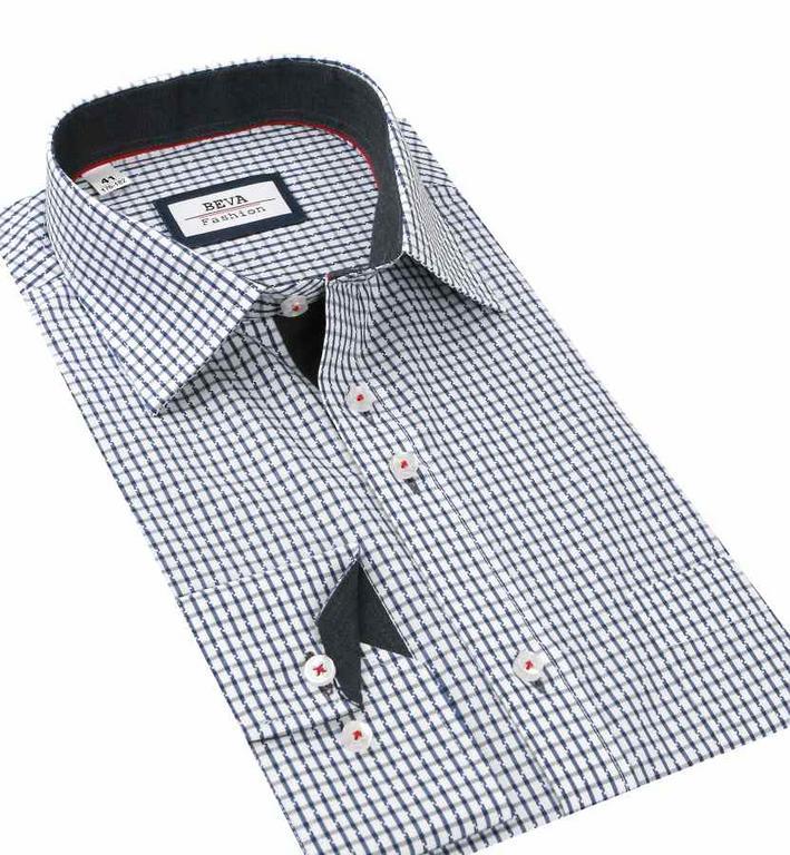 3de4821675ad Bielo- modrá košeľa BEVA (klasický strih