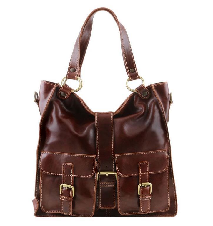 Dámska kožená kabelka hnedá MELISSA TUSCANY LEATHER 140928 - All4Men.sk 6ba471578e7