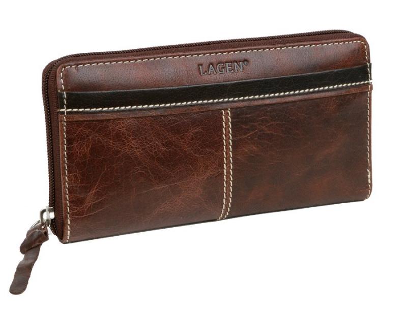 Kožená dámska peňaženka so zipsom LAGEN 26512 - All4Men.sk 5c1bcd30436