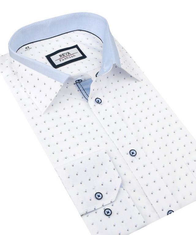 08dc64f328f2 Pánska košeľa dlhý rukáv BEVA KLASIK