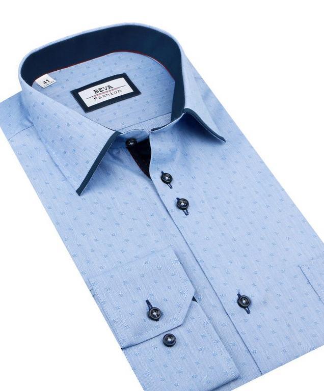 109d62e1f311 Pánka modrá košeľa BEVA KLASIK s dlhým rukávom 2T134 - All4Men.sk