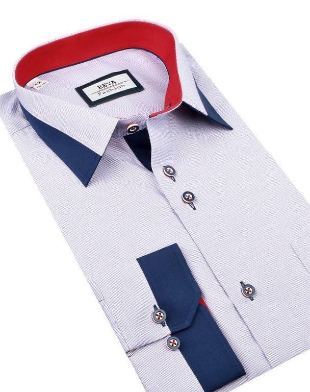 8076caa18a22 Pánska business fialová košeľa BEVA SLIM 2T123 - All4Men.sk