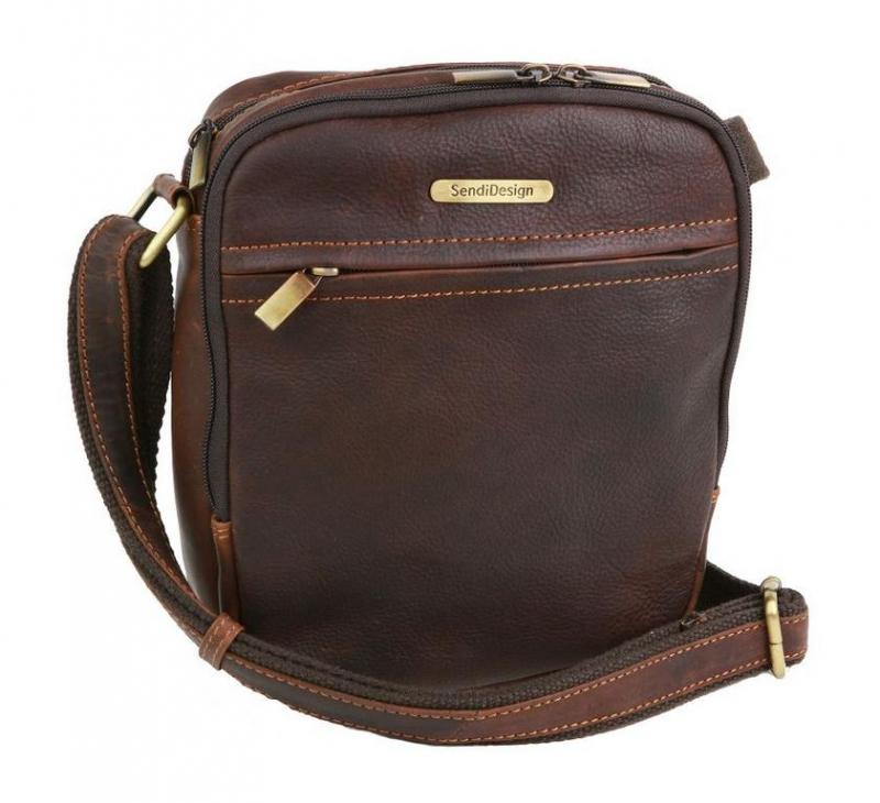 4e72709b79a77 Hnedá príručná taška 21 x 23 cm SENDI 1106 - All4Men.sk