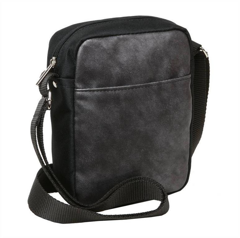 Textilná príručná taška strieborná 16 x 21 cm MERCUCIO 9035 - All4Men.sk c43cef0026b