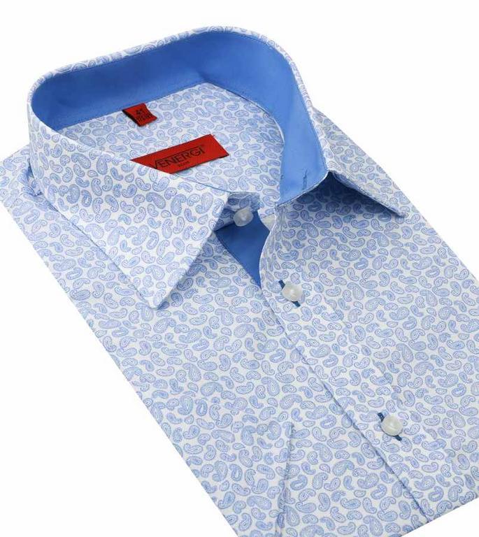 a2b9ab394051 Pánska košeľa s kašmírovým vzorom VENERGI SLIM - All4Men.sk