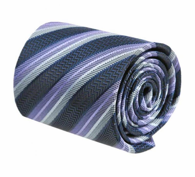 Pánska hodvábna kravata fialová ORSI 291 - All4Men.sk 74e0381873