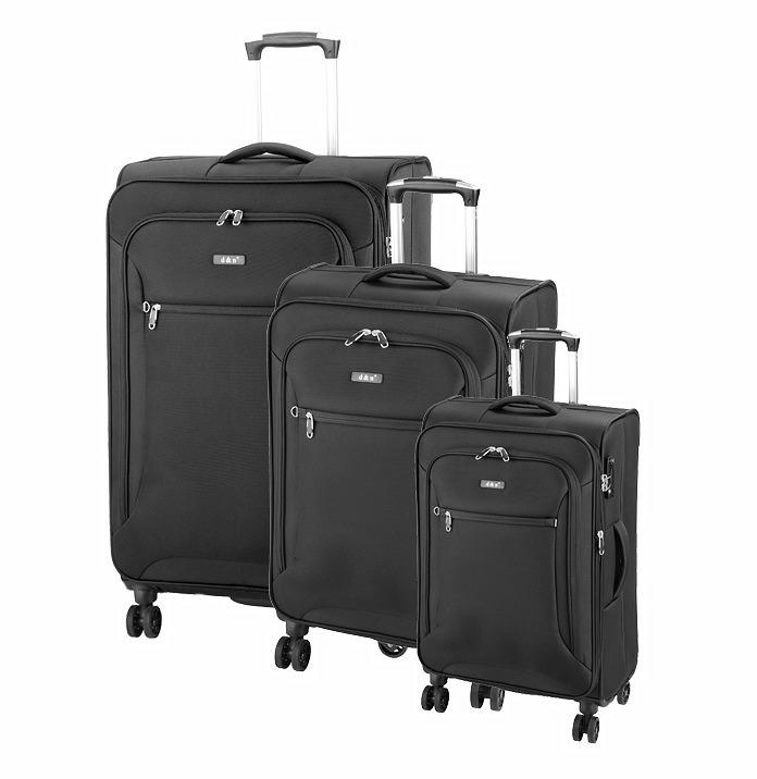 90c11f6ad2f12 Cestovný kufor D&N 6404 čierny s TSA zámkom set 3 ks - All4Men.sk