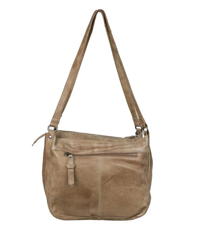 Kožená dámska kabelka hnedá GREENBURRY - All4Men.sk 22f9fff28f1