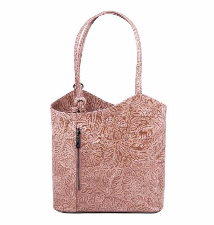 Dámska kožená kabelka PATTY s potlačou TUSCANY - All4Men.sk b59ce152477