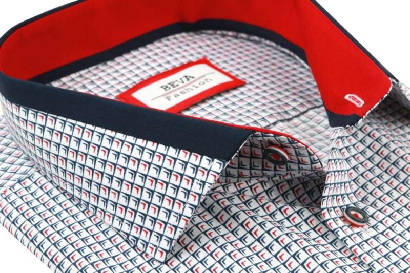 df72f1f21438 Ležérna pánska košeľa s krátkym rukávom BEVA KLASIK - All4Men.sk