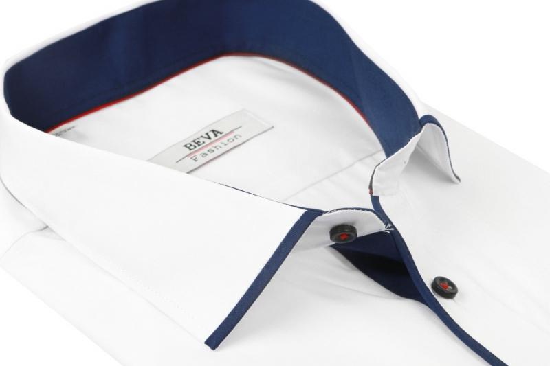 f8d9bd257bec Spoločenská biela pánska košeľa BEVA SLIM dl.rukáv - All4Men.sk