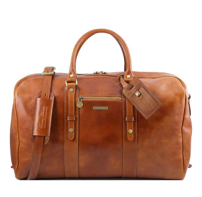 fabb91d5537d8 Cestovná taška kožená medová TUSCANY VOYAGER - All4Men.sk