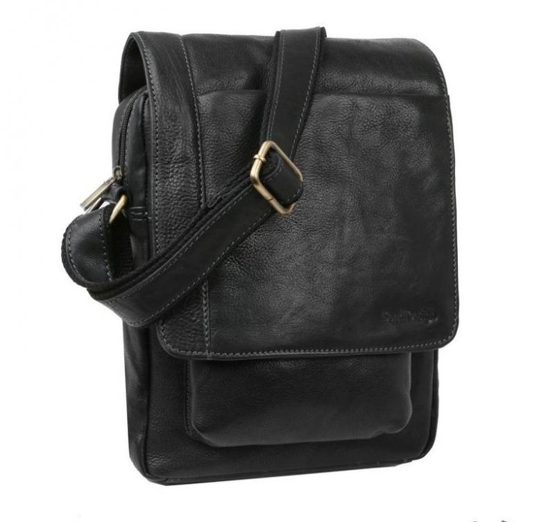 25e575c6aa Čierna crossbody taška kožená 21x26 cm SENDI - All4Men.sk