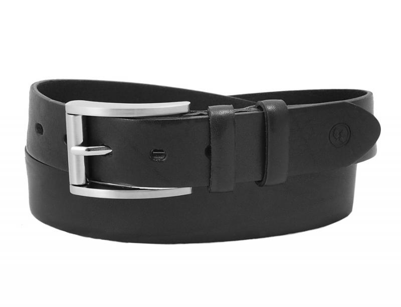 b351d712a Kožený športovo-elegantný čierny opasok SANDRO 3,5 cm - All4Men.sk