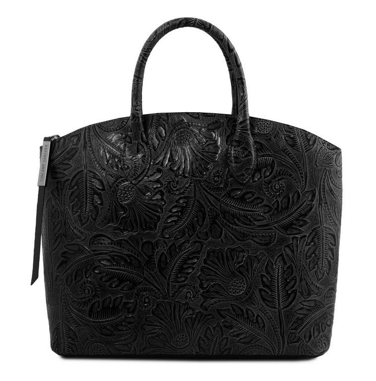 Dámska exkluzívna kabelka s potlačou GAIA TUSCANY čierna - All4Men.sk 3d34f46d1ab