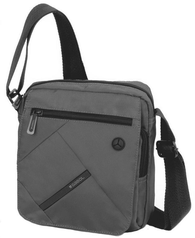 2846ec8363 Príručná textilná taška na rameno GABOL TWST šedá - All4Men.sk