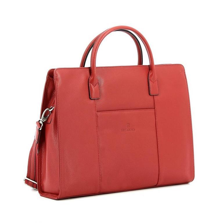 7ff9b709af Dámska luxusná biznis taška HEXAGONA tehlová hnedá - All4Men.sk