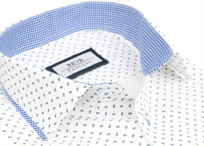 53198132da Biela športovo- elegantná košeľa s dlhým rukávom BEVA SLIM - All4Men.sk