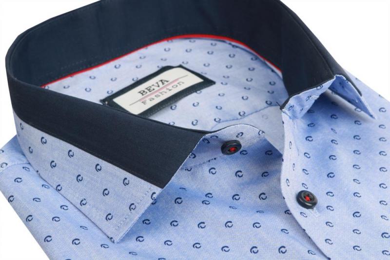 78956e1b263b Pánska modrá biznis košeľa dlhý rukáv BEVA KLASIK 2T185 - All4Men.sk