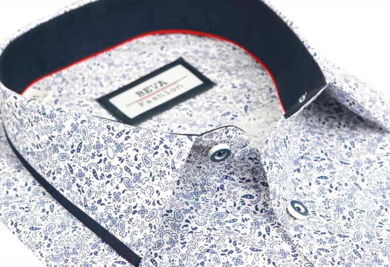 ac2e2bbdc4e5 Exkluzívna pánska košeľa s drobným vzorom BEVA SLIM dlhý r. - All4Men.sk