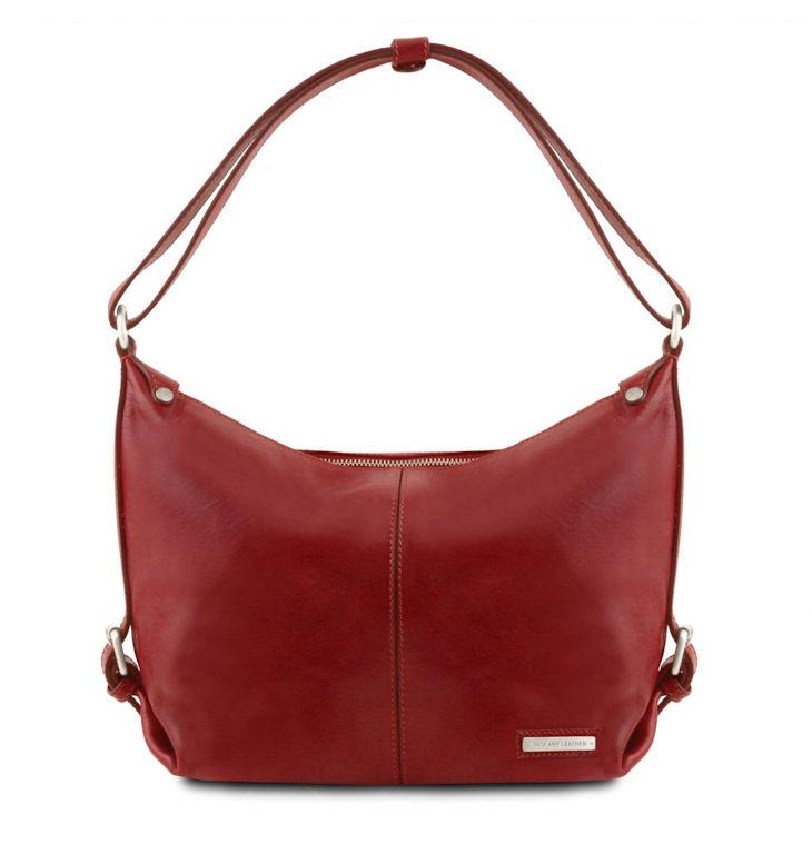 a86ddc9379 Dámska kabelka na rameno SABRINA TUSCANY LEATHER červená - All4Men.sk