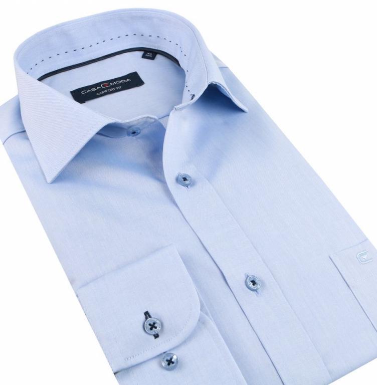 90b5670c1 Luxusná bavlnená košeľa modrá CASAMODA COMFORT (non iron) - All4Men.sk