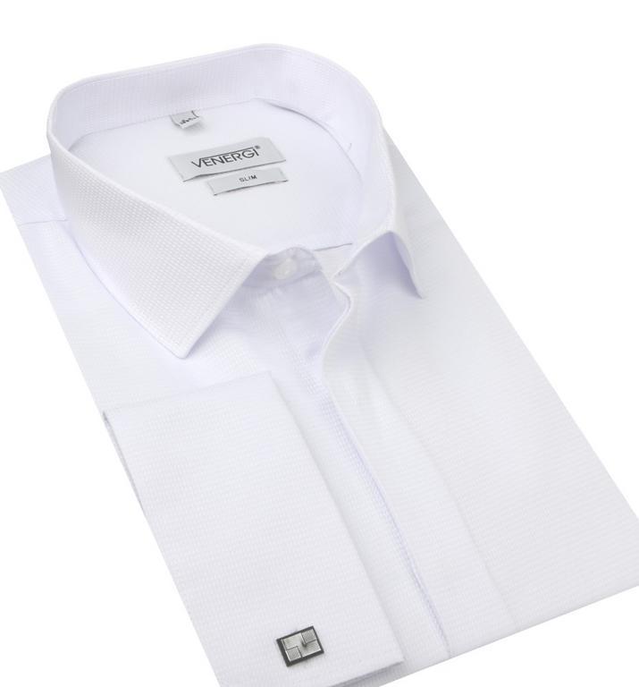 c07f52b65c37 Pánska sviatočná košeľa na manžetové gombíky VENERGI SLIM 170 cm -  All4Men.sk