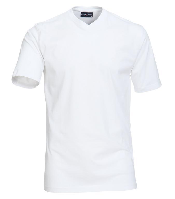 Pánske biele tričko CASAMODA Comfort V-výstrih 2-balenie - All4Men.sk ae7e2d1aae2