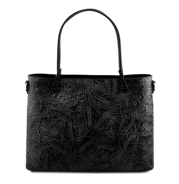45db22f2dd Luxusná dámska kabelka s potlačou TUSCANY ATENA čierna - All4Men.sk