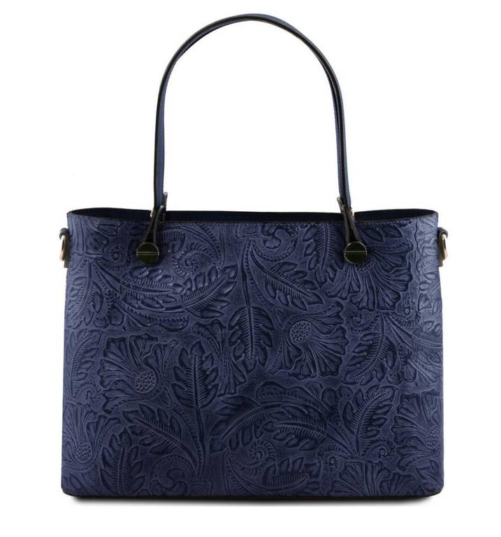 a035c4f23b Dámska exkluzívna kabelka s potlačou ATENA TUSCANY modrá - All4Men.sk